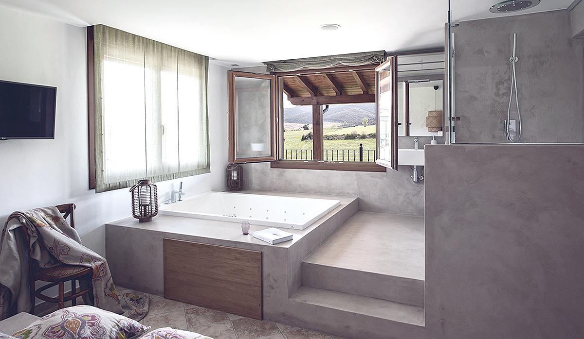 interiorismo-dormitorio-posada rural-guemes-cantabria-microcemento-10